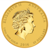 mince Rok Opice 2016 1/4 Oz - zlato