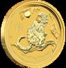 mince Rok Opice 2016 1/2 Oz - zlato