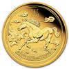 mince Rok Koně 2014 1/4 Oz Proof - zlato