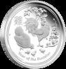 mince Rok Kohouta 2017 1 kg – stříbro
