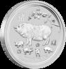 mince Rok Vepře 2019 2 Oz – stříbro