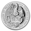 The Queen's Beasts - Red Dragon 10 oz - stříbro