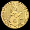 The Queen's Beasts - White Lion 1/4 oz - zlato